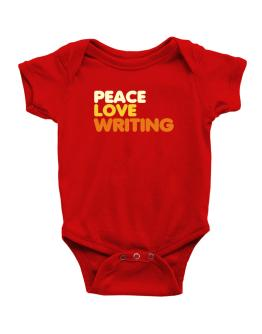 Peace Love Writing Baby Bodysuit