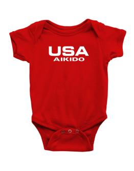 Usa Aikido / Athletic America Baby Bodysuit