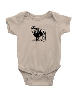 African Lion sketch Baby Bodysuit
