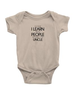 The more I learn about people the more I love my Auncle Baby Bodysuit