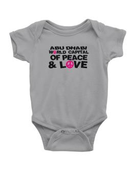 Abu Dhabi World Capital Of Peace And Love Baby Bodysuit