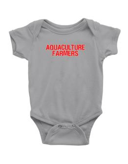 Aquaculture Farmers Embroidery Baby Bodysuit