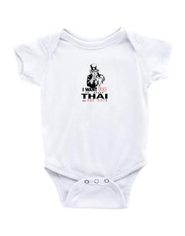I Want You To Speak Thai Or Get Out! Baby Bodysuit