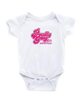 Proudly Gay, Proudly Made In Asheville Baby Bodysuit