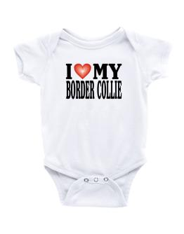 I Love Border Collie Baby Bodysuit
