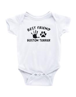 My Best Friend Is My Boston Terrier Baby Bodysuit