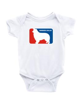 Border Collie Sports Logo Baby Bodysuit
