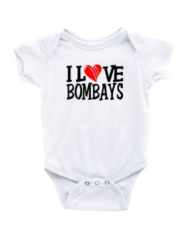 I Love Bombays - Scratched Heart Baby Bodysuit