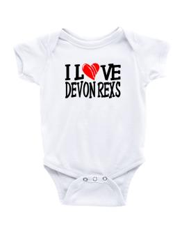I Love Devon Rexs - Scratched Heart Baby Bodysuit