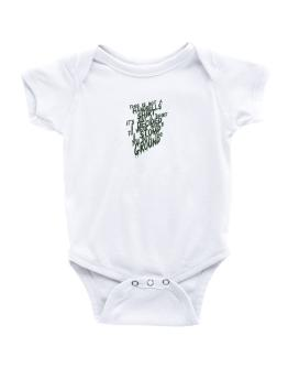 This Is Not A Shirt Baby Bodysuit