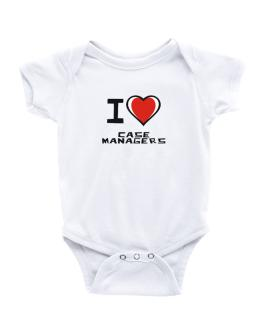 I Love Case Managers Baby Bodysuit