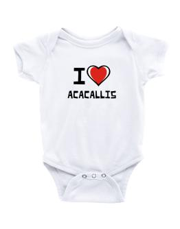 I Love Acacallis Baby Bodysuit