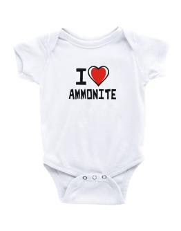 I Love Ammonite Baby Bodysuit