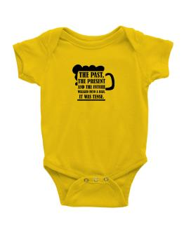 The past, the present, and the future walk into a bar Baby Bodysuit