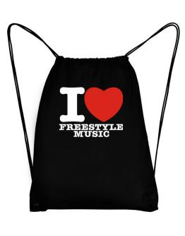 I Love Freestyle Music Sport Bag
