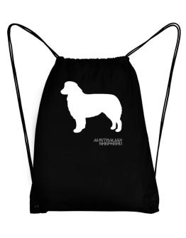 Australian Shepherd Stencil / Chees Sport Bag
