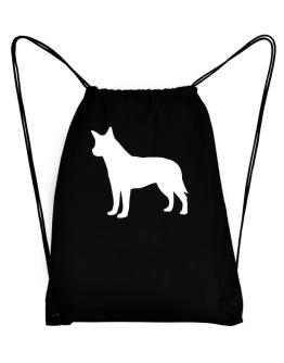 Australian Cattle Dog Silhouette Embroidery Sport Bag