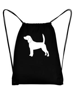 Beagle Silhouette Embroidery Sport Bag
