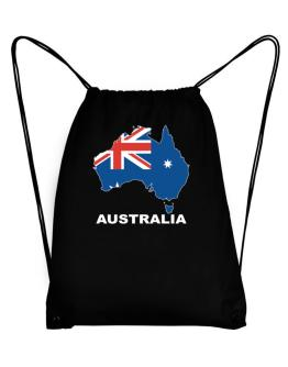 Australia - Country Map Color Sport Bag