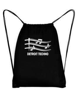 Detroit Techno - Musical Notes Sport Bag