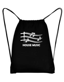 House Music - Musical Notes Sport Bag