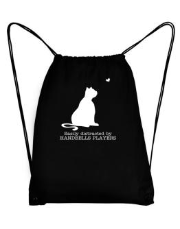 Easily Distracted By Handbells Players Sport Bag