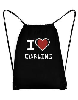 I Love Curling Sport Bag