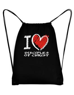 I love Disciples Of Christ chalk style Sport Bag
