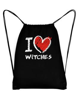 I love Witches chalk style Sport Bag