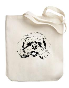 """"""" Bolognese FACE SPECIAL GRAPHIC """" Canvas Tote Bag"""