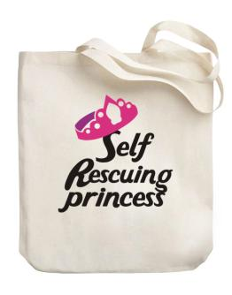 Self Rescuing Princess Canvas Tote Bag