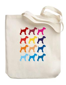 Colorful Fox Terrier Canvas Tote Bag