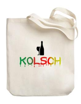 Dripping Kolsch Canvas Tote Bag
