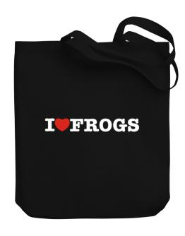 I Love Frogs Canvas Tote Bag