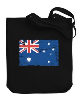 """ Australia - Vintage Flag "" Canvas Tote Bag"