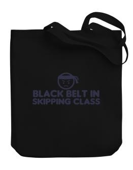 Black Belt In Skipping Class Canvas Tote Bag