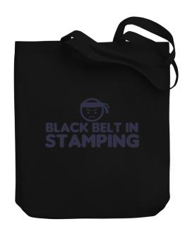 Black Belt In Stamping Canvas Tote Bag