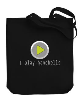 I Play Handbells Canvas Tote Bag