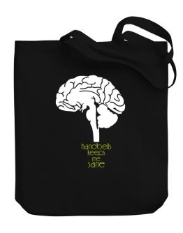 Handbells Keeps Me Sane Canvas Tote Bag