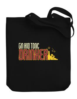 Gin And Tonic Drinker Canvas Tote Bag