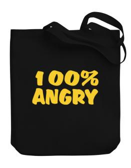 100% Angry Canvas Tote Bag