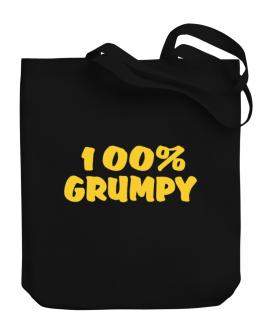 100% Grumpy Canvas Tote Bag