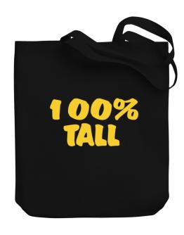 100% Tall Canvas Tote Bag