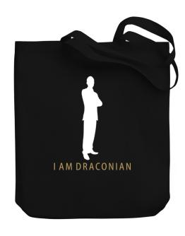I Am Draconian - Male Canvas Tote Bag