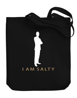I Am Salty - Male Canvas Tote Bag