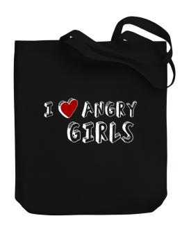 I Love Angry Girls Canvas Tote Bag