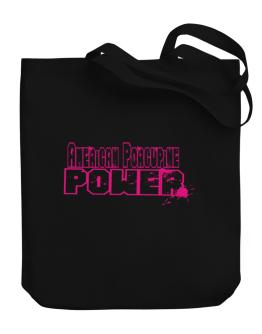 American Porcupine Power Canvas Tote Bag