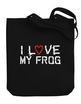 I Love My Frog Canvas Tote Bag