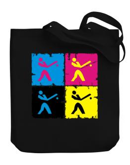 Baseball - Pop Art Canvas Tote Bag