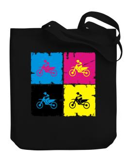 Motocross - Pop Art Canvas Tote Bag